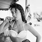 Elizabeth Taylor On The Set of 'Giant'