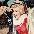 Marilyn Monroe Exiting Helicopter