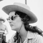 "Elizabeth Taylor on Set of ""Giant"""