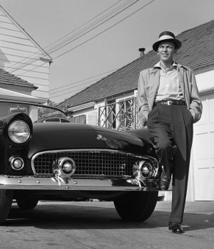 Frank Sinatra with T-Bird by