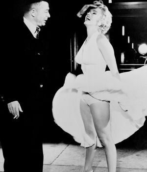 Marilyn Monroe & Billy Wilder 1953 by