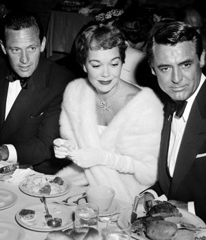 Cary Grant, Jane Wyman & William Holden at Dinner by
