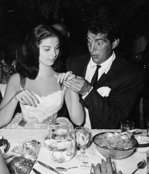Dean Martin Eyeing Pier Angeli's Ring by
