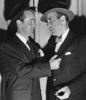 Alan Ladd & Humphrey Bogart 1949 by