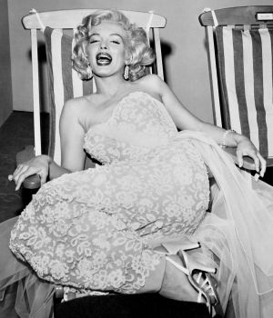Marilyn Monroe in Deck Chair 1955 by