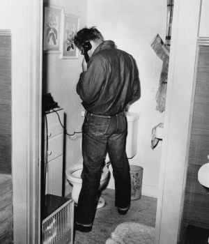 James Dean in Restroom 1954 by