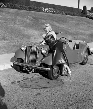 Marilyn Monroe Lying on Classic Car 1953 by