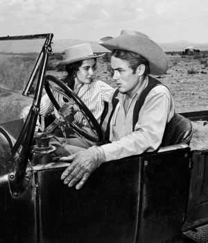 James Dean & Elizabeth Taylor, Giant 1955 by