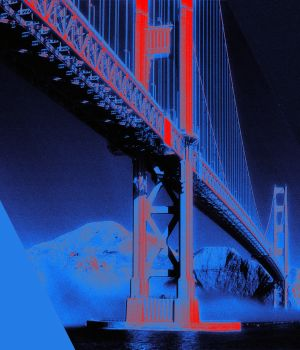 Golden Gate Bridge, Blue by