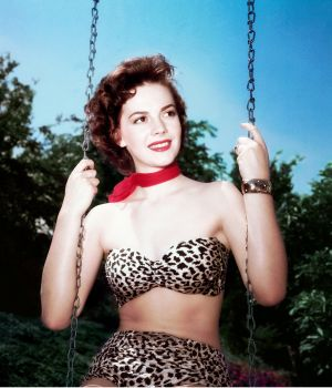 Natalie Wood on Swing 1956 by