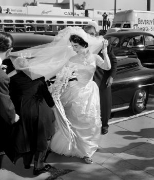 Elizabeth Taylor in Wedding Dress by