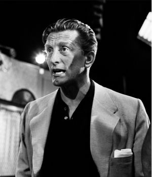Kirk Douglas on the set of 'Jack Benny Show' by
