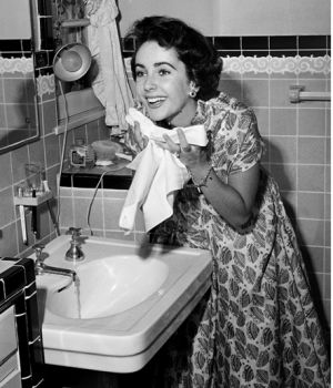 Elizabeth Taylor Washing Face 1948 by