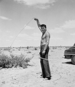 Rock Hudson with Lasso, Giant 1955 by