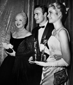 Bette Davis, Marlon Brando & Grace Kelly at the Oscars 1954 by