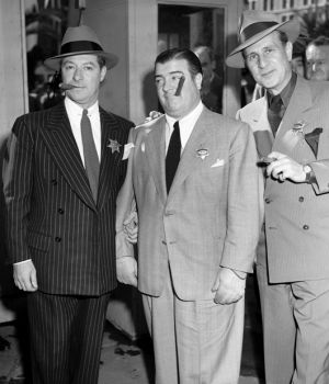 Dapper Bud Abbott, Lou Costello & George Jessel 1958 by