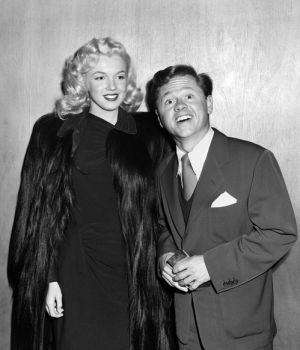 Marilyn Monroe & Mickey Rooney 1948 by