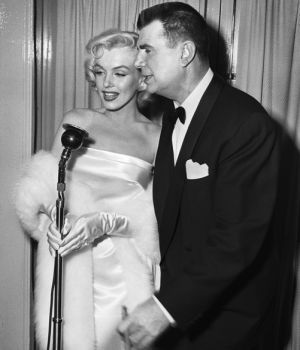 Marilyn Monroe Being Interviewed for TV Show by