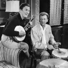 Kirk Douglas Plays Banjo with Dan Dailey on Drums