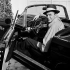Frank Sinatra Sitting in his T-Bird