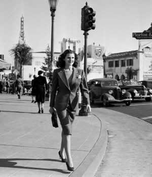 Rita Hayworth, Taking A Stroll in Hollywood 1939 by