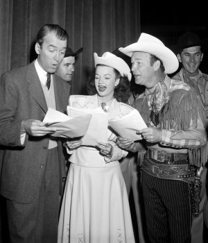 James Stewart, Dale Evans & Roy Rogers Join in Song by