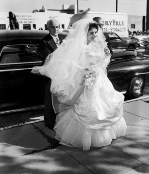 Elizabeth Taylor in Wedding Dress 1950 by