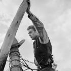 James Dean on Fence Post
