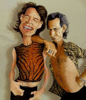 Mick Jagger & Keith Richards by