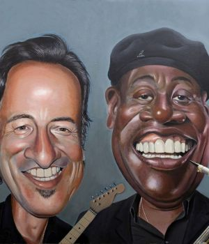 Bruce Springsteen & Clarence Clemons by