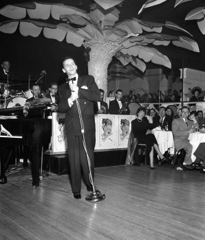 Frank Sinatra on Copa Stage by