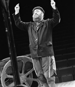 Zero Mostel on a Broadway Show 3 by