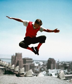 Sammy Davis Jr. Jumping in the Air 1959 by