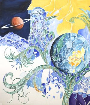 Garden with Saturn by