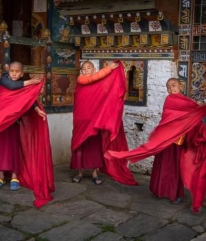 Monks Getting Dressed by