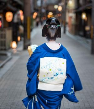 Geisha Going to Work (B) by