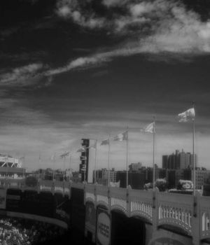 Infared Old Yankee Stadium by