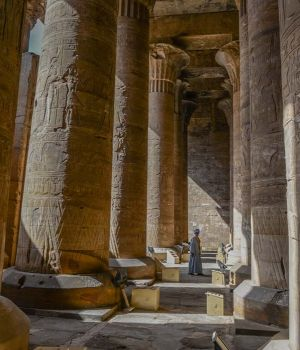 Columns of Edfu, Egypt by