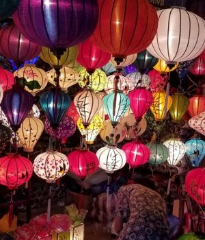 Colorful Hoi An lamps, Vietnam by