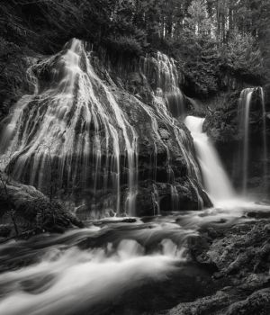 Panther Creek falls by