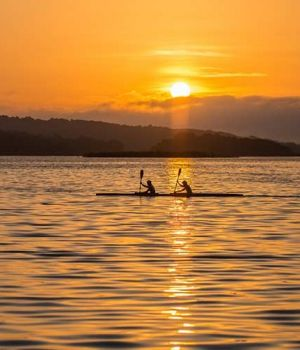 Rowing in the Sun Rise by