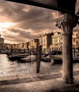 Sunburst Over the Grand Canal by