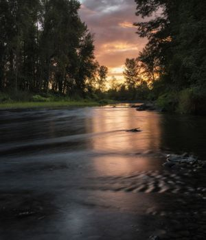 Sunset Over the Molalla by