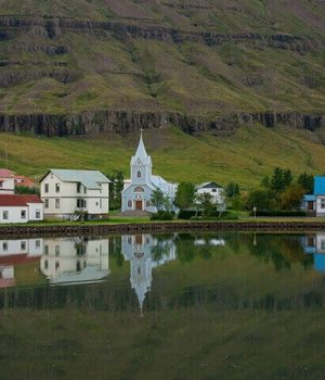 East Fjord Town, Iceland by