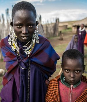 Maasai Girl and Brother, Tanzania by