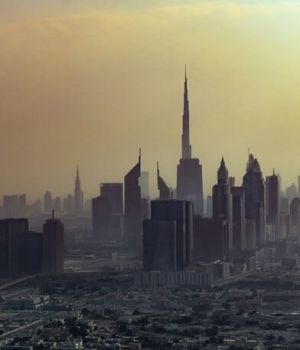 Dubai City Skyline by