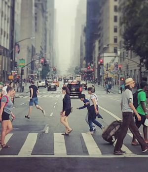 NYC Crosswalk by