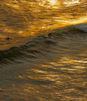 Sunset Surfing by